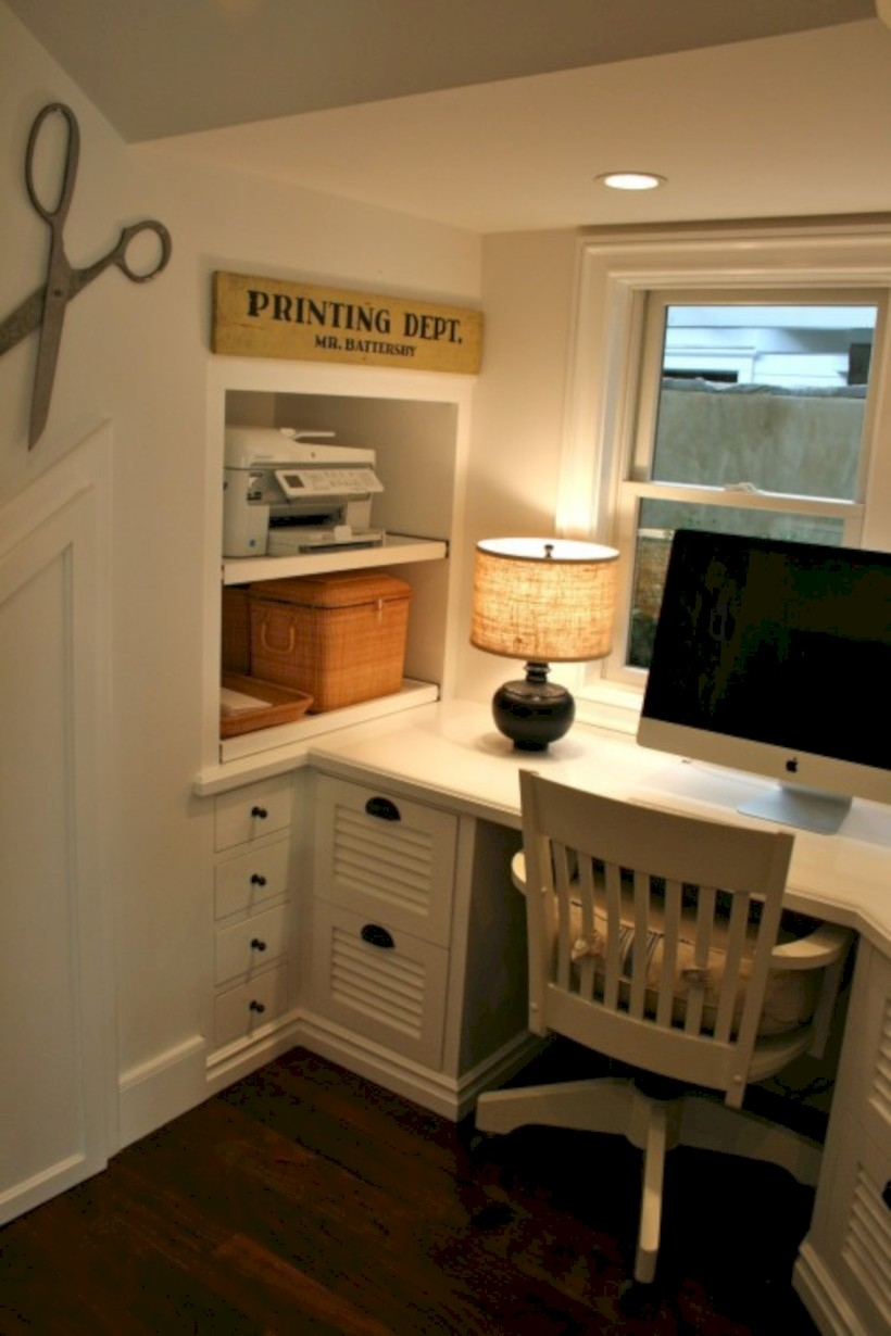 Neat and clean minimalist workspace design ideas for your home 14