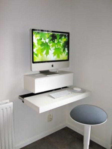 Neat and clean minimalist workspace design ideas for your home 18