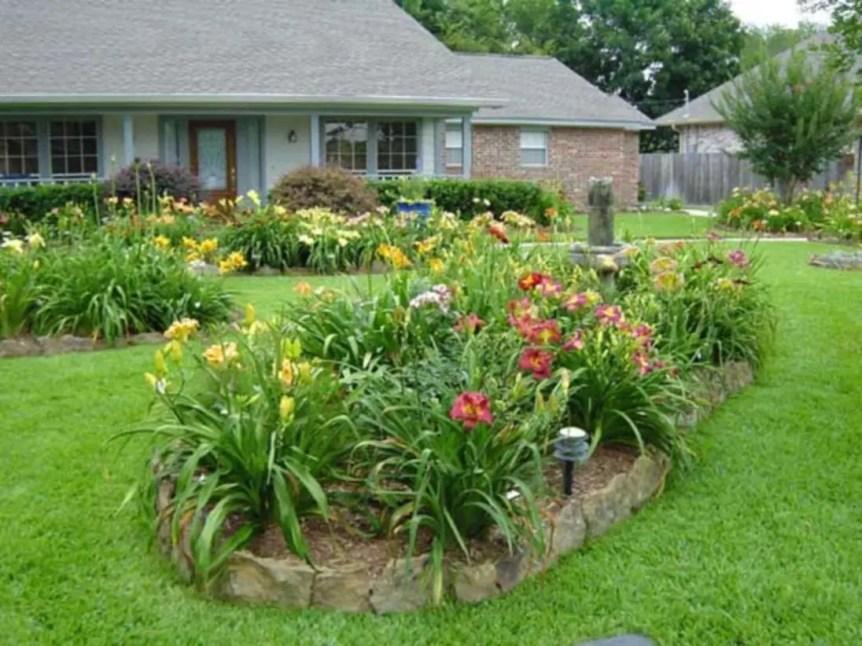 Outdoor garden decor landscaping flower beds ideas 05
