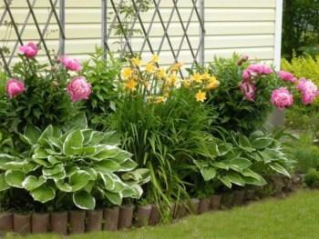 Outdoor garden decor landscaping flower beds ideas 06