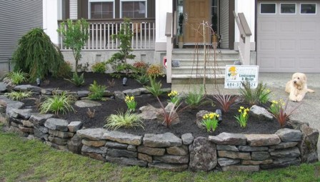 Outdoor garden decor landscaping flower beds ideas 31
