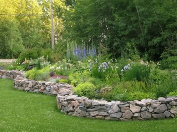 Outdoor garden decor landscaping flower beds ideas 43