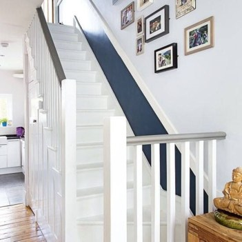 Painted staircase ideas which make your stairs look new 01