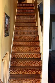 Painted staircase ideas which make your stairs look new 04