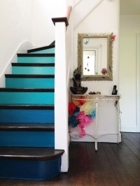 Painted staircase ideas which make your stairs look new 05