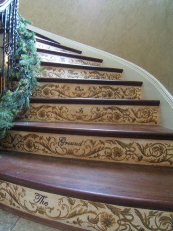 Painted staircase ideas which make your stairs look new 09