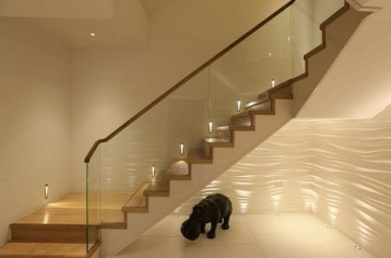 Painted staircase ideas which make your stairs look new 12