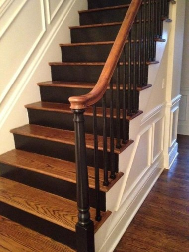 Painted staircase ideas which make your stairs look new 33