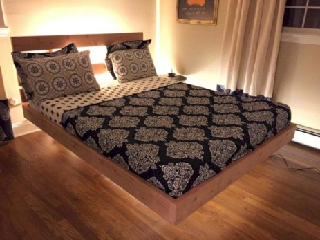 Raised platform bed to define your sleep space easily 07