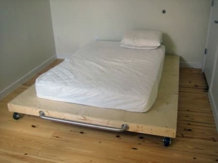 Raised platform bed to define your sleep space easily 08