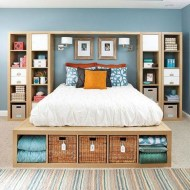 Raised platform bed to define your sleep space easily 22