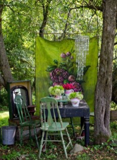 Shabby chic and bohemian garden ideas 30