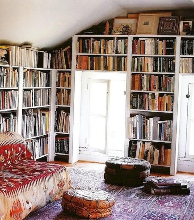 Stunning bookshelves ideas for bedroom decoration 11