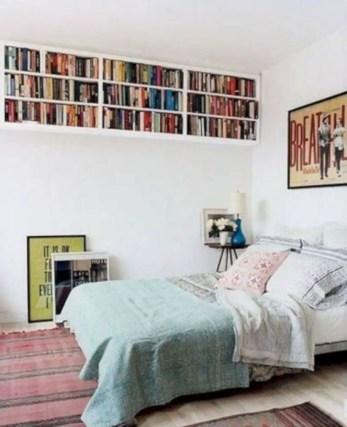 Stunning bookshelves ideas for bedroom decoration 12
