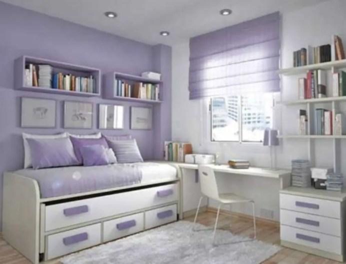 Stunning bookshelves ideas for bedroom decoration 17