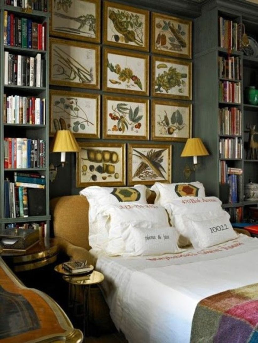 12 Stunning Bedroom Paint Ideas For Your Master Suite: 39 Stunning Bookshelves Ideas For Bedroom Decoration