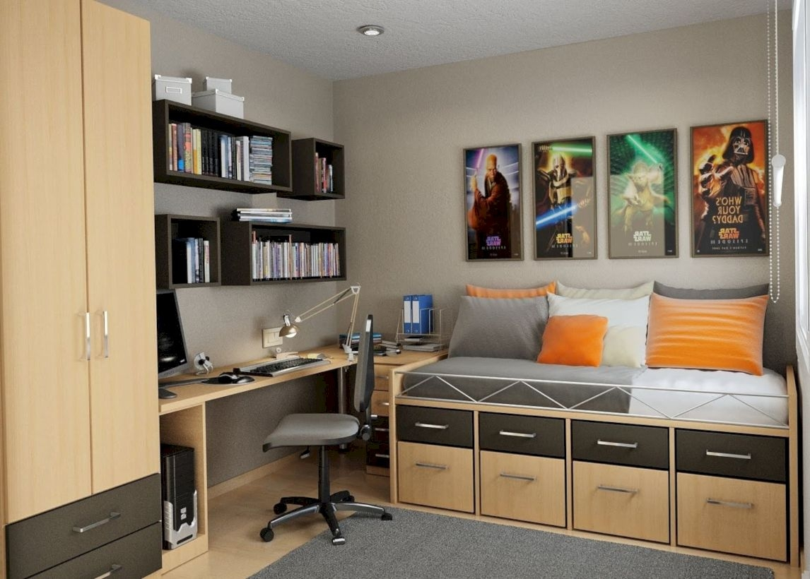 Stunning ideas for small rooms teenage girl bedroom 26