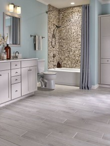 Stunning mosaic tiled wall for your bathroom 06