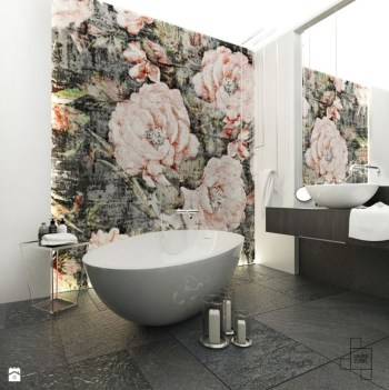 Stunning mosaic tiled wall for your bathroom 08