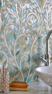 Stunning mosaic tiled wall for your bathroom 14