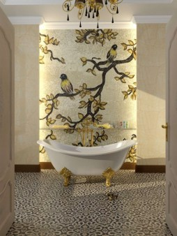 Stunning mosaic tiled wall for your bathroom 15
