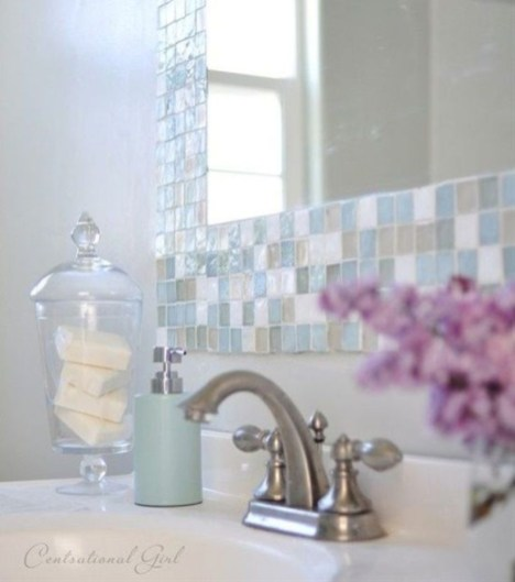 Stunning mosaic tiled wall for your bathroom 23