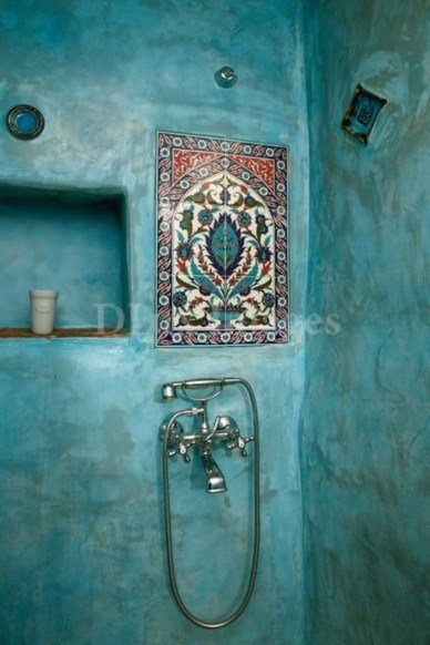 Stunning mosaic tiled wall for your bathroom 26
