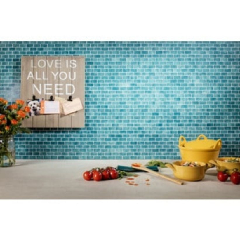 Stunning mosaic tiled wall for your bathroom 30