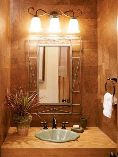 Stunning wood accents to refresh your bathroom 01