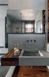 Stunning wood accents to refresh your bathroom 04