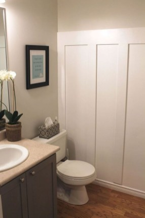 Stunning wood accents to refresh your bathroom 06