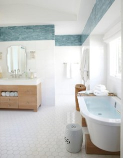 Stunning wood accents to refresh your bathroom 09