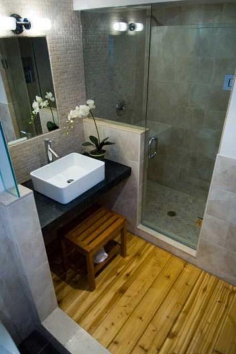 Stunning wood accents to refresh your bathroom 11