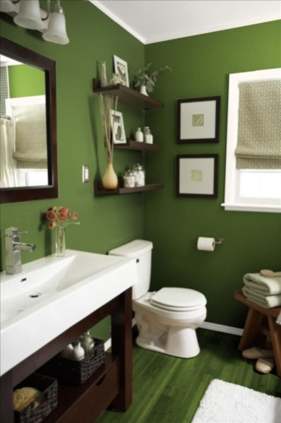 Stunning wood accents to refresh your bathroom 21