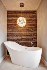Stunning wood accents to refresh your bathroom 30