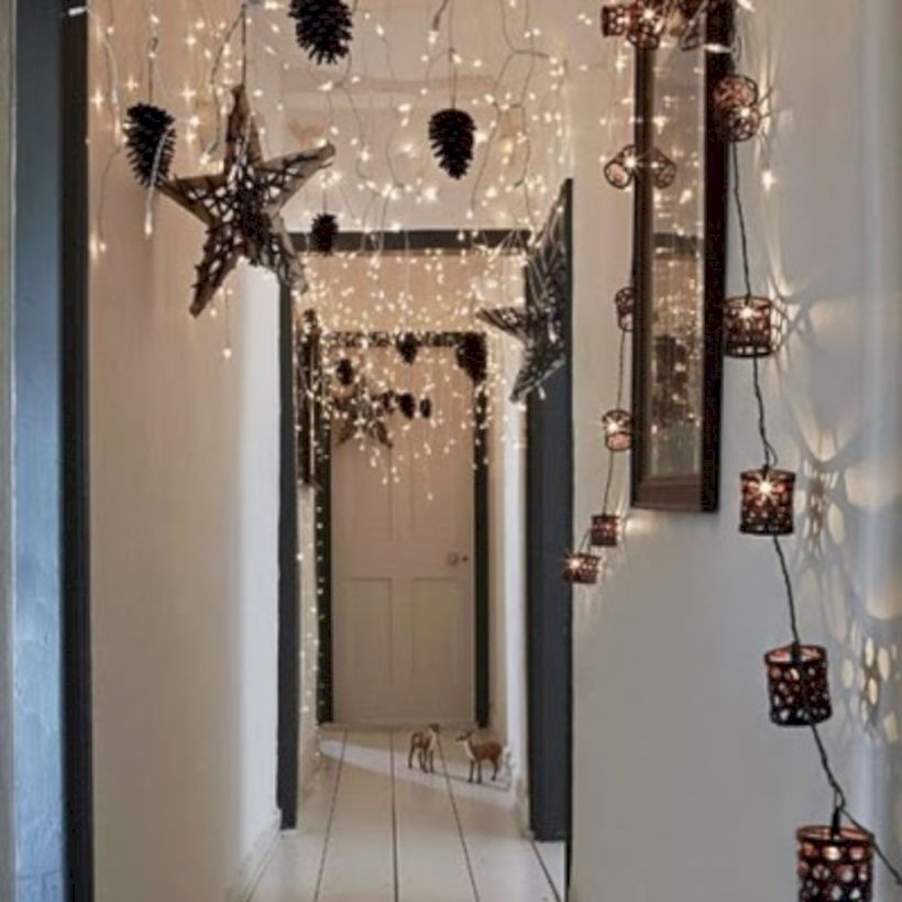 Twinkly ways to light up your home with christmas fairy light 39