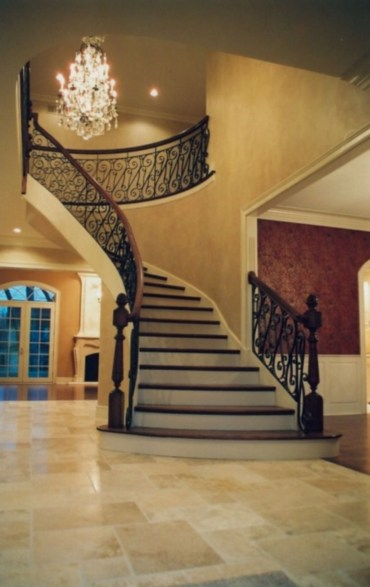 Ways to decorate with chandelier over the stairs 05