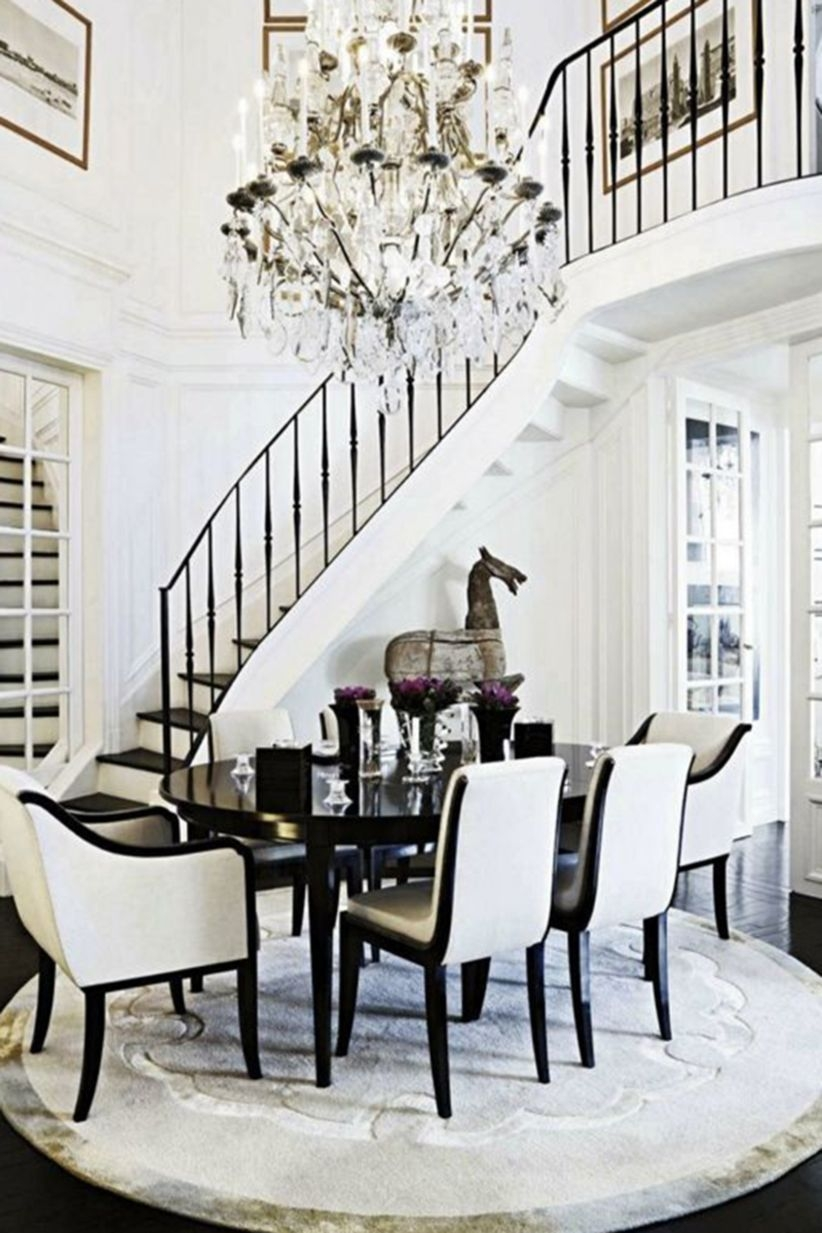 Ways to decorate with chandelier over the stairs 11