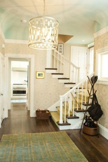 Ways to decorate with chandelier over the stairs 21