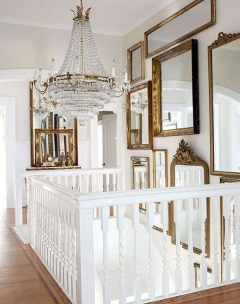 Ways to decorate with chandelier over the stairs 23