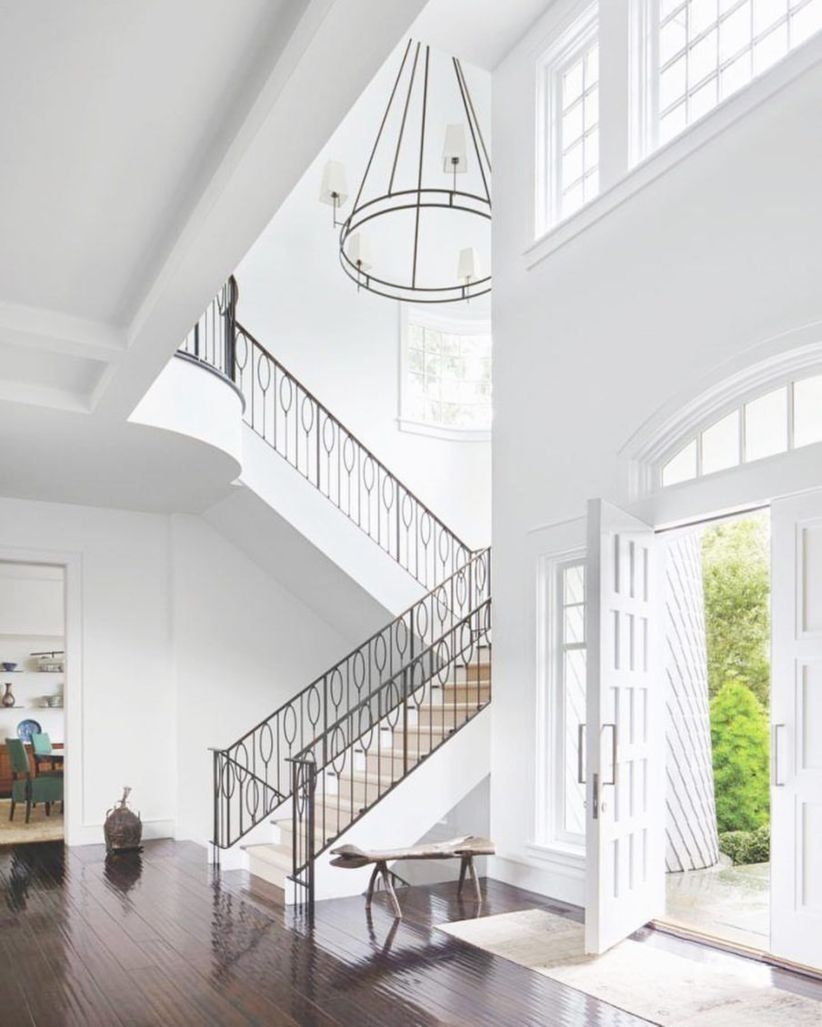 Ways to decorate with chandelier over the stairs 35
