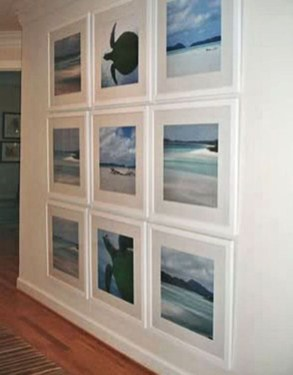 White wall and picture frames in hallway decorating ideas 06