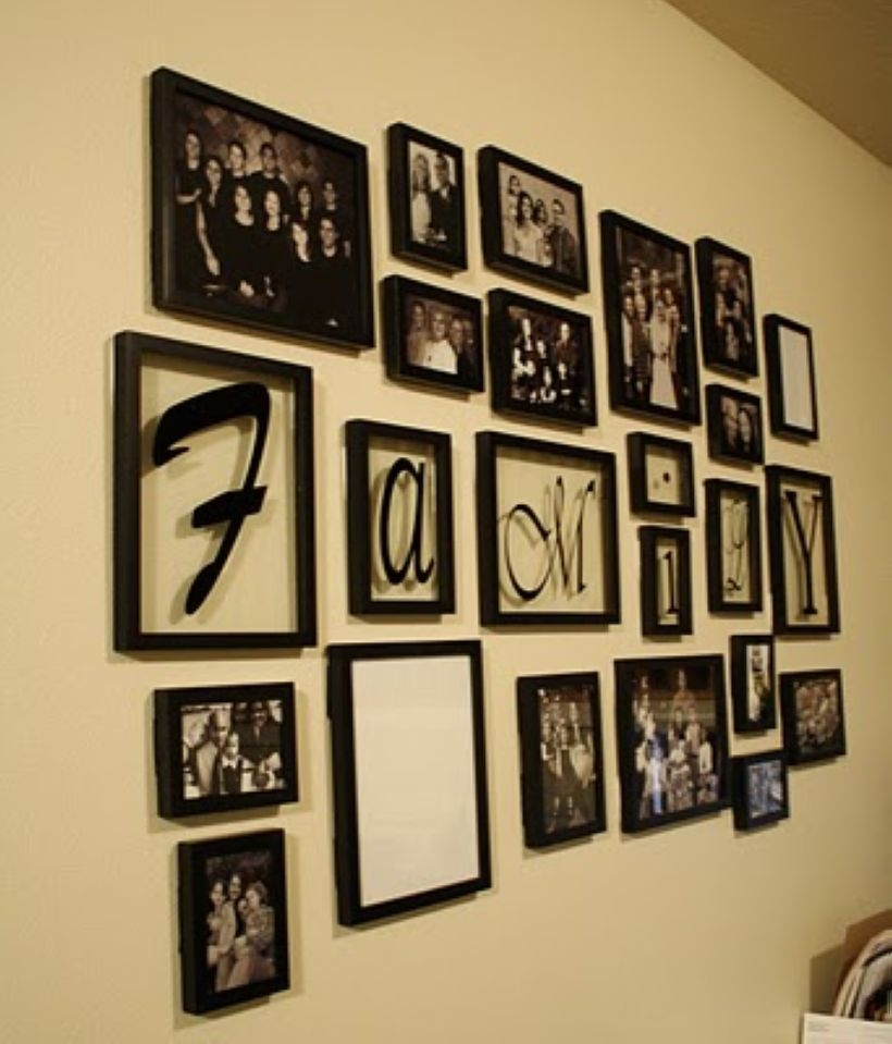 White wall and picture frames in hallway decorating ideas 15