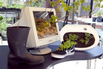 Diy-planters-upcycling-project-old-pc-monitor-shoe-boot-sink