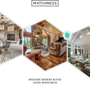 29. modern rustic living room