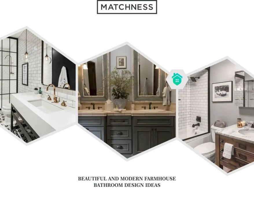 32. farmhouse bathroom design