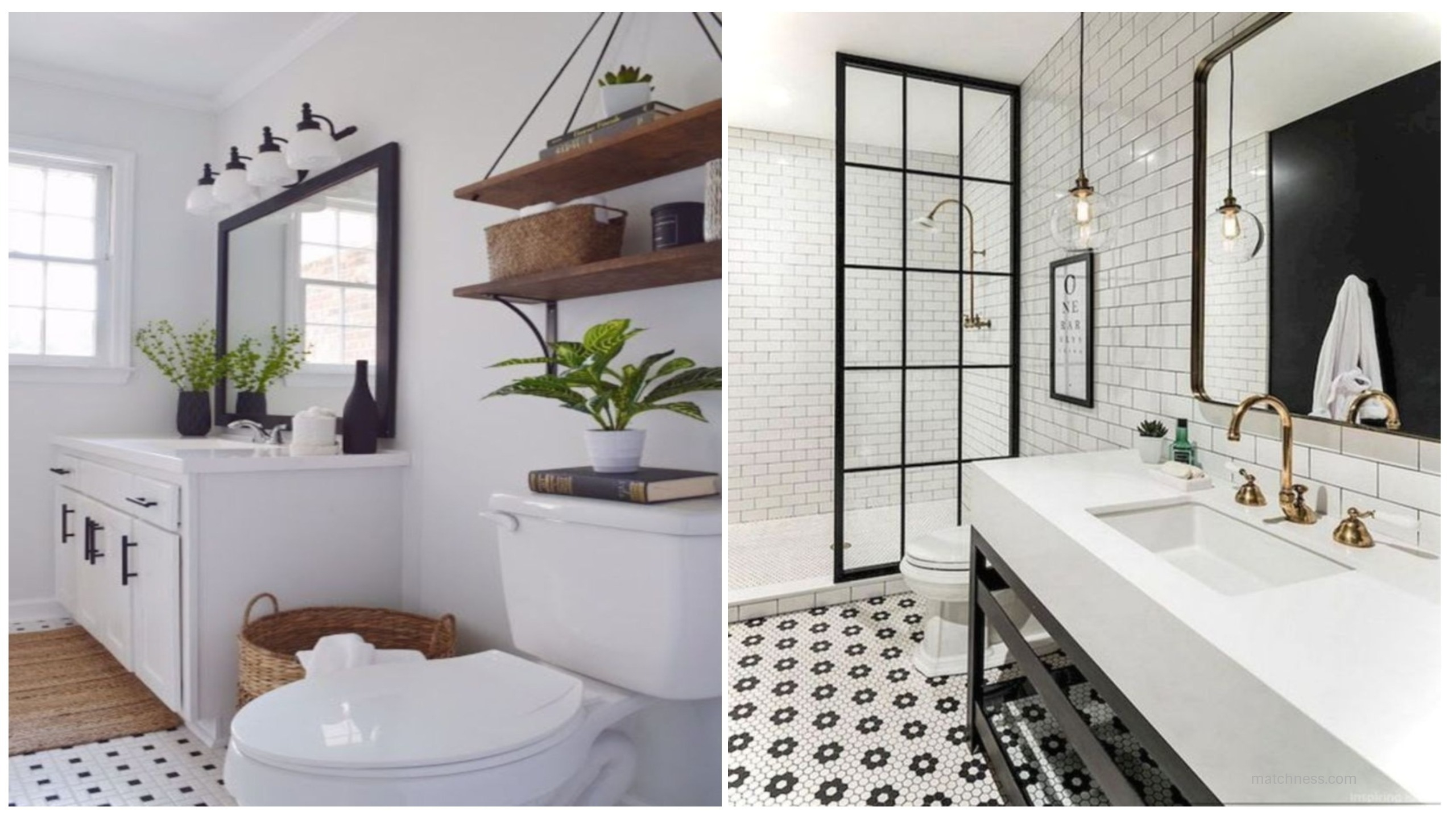 17 Beautiful and Modern Farmhouse Bathroom Design Ideas ...