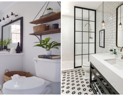 Beautiful and modern farmhouse bathroom design ideas