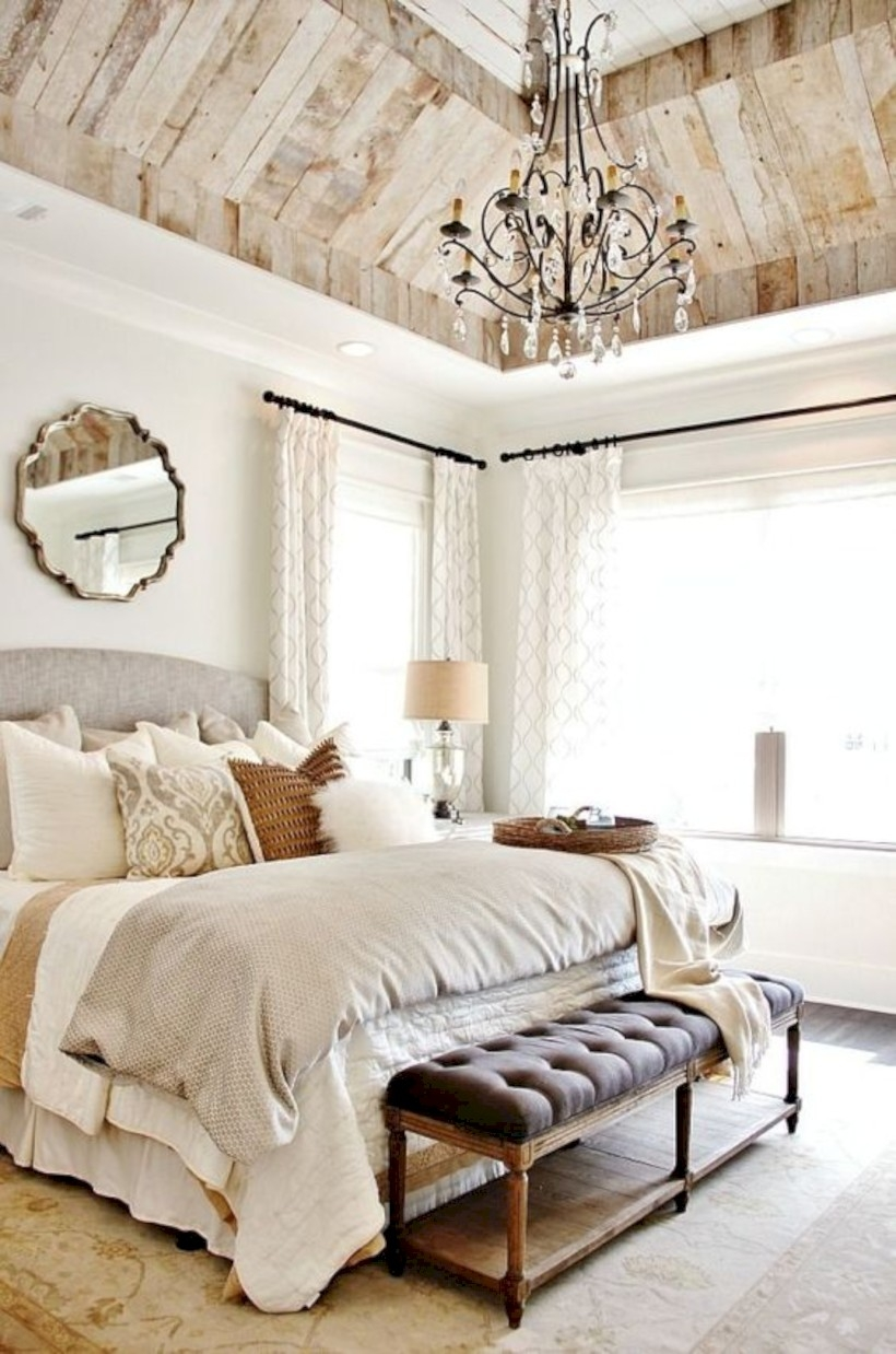Bedroom with neutral tones and texture