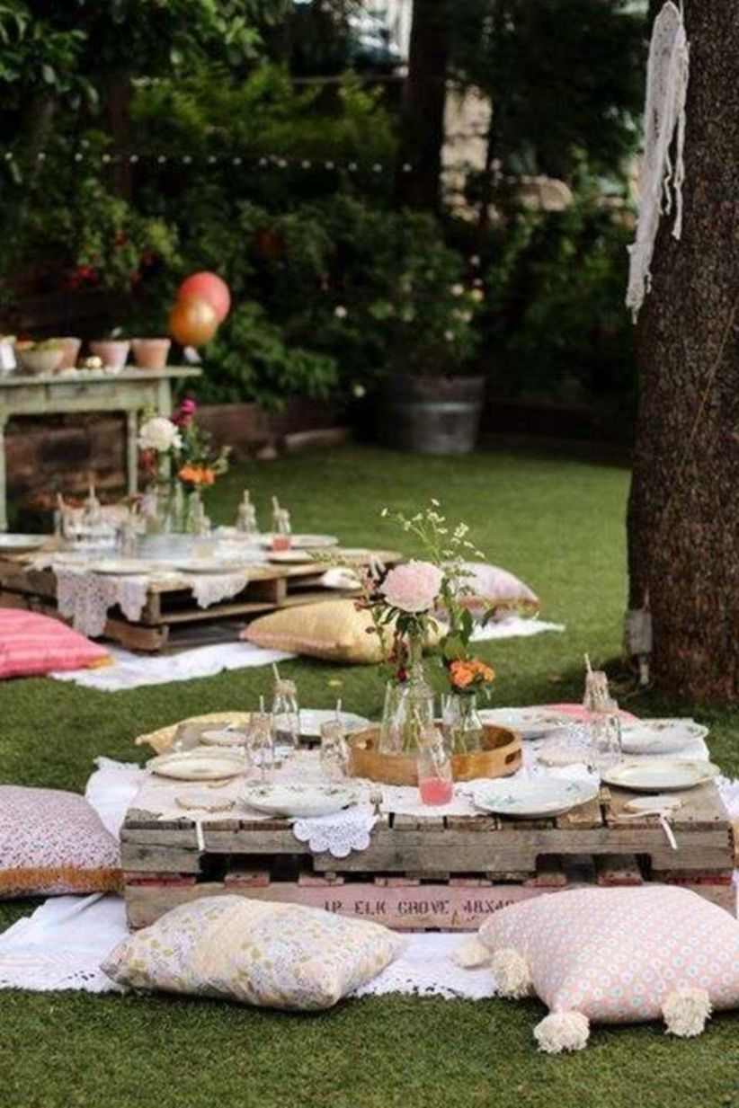 Boho garden party birthday party ideas